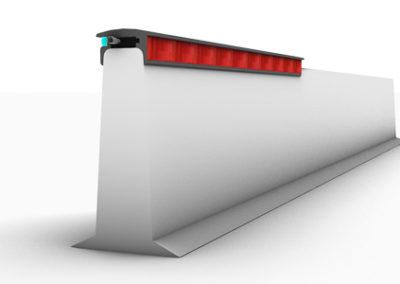 illuminazione barriere di sicurezza