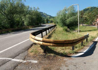 barriera di sicurezza in legno